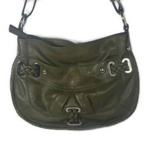 B. Makowski Green Leather Handbag Purse